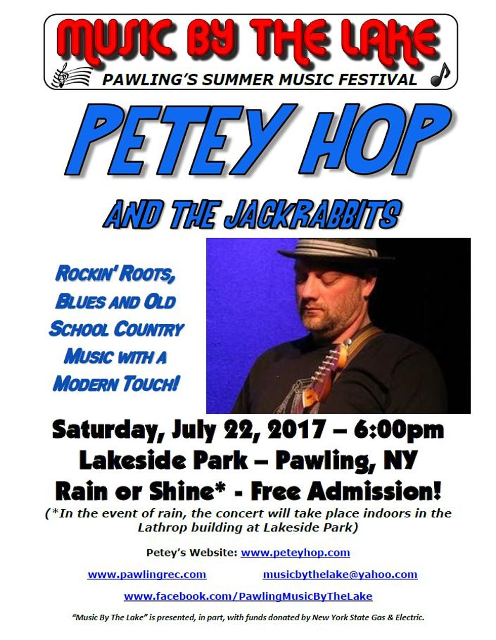 "PAWLING – Music By The Lake Presents ""Petey Hop & The"